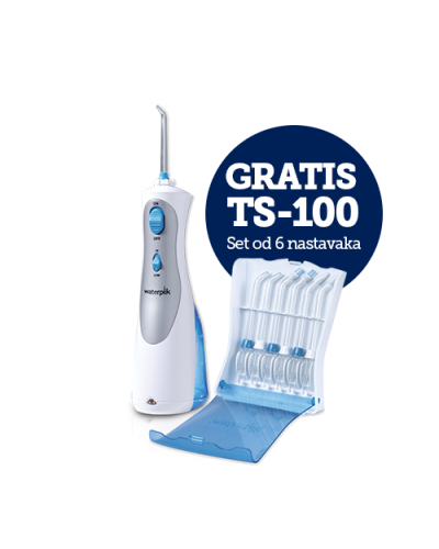 WP-450 Waterpik Cordless Plus + GRATIS TS-100E Set od 6 nastavaka za Waterpik oralne tuševe